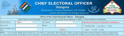 Search Polling Station and Name in Telangana