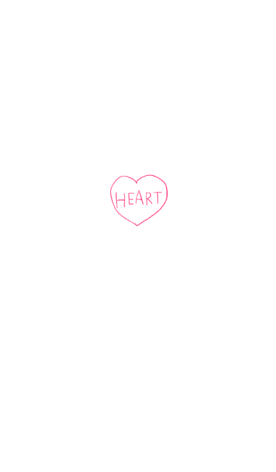 Simple pencil heart
