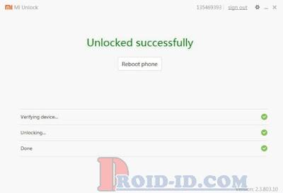 Unlock Xiaomi Sukses