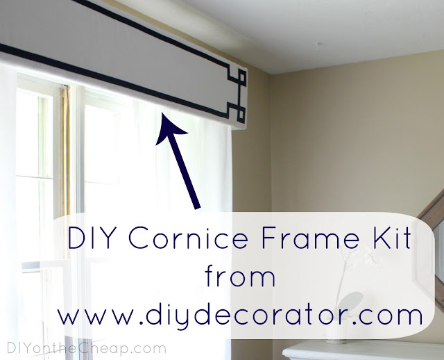 DIY Cornice Frame Kit from diydecorator.com - you customize with fabric of your choice!