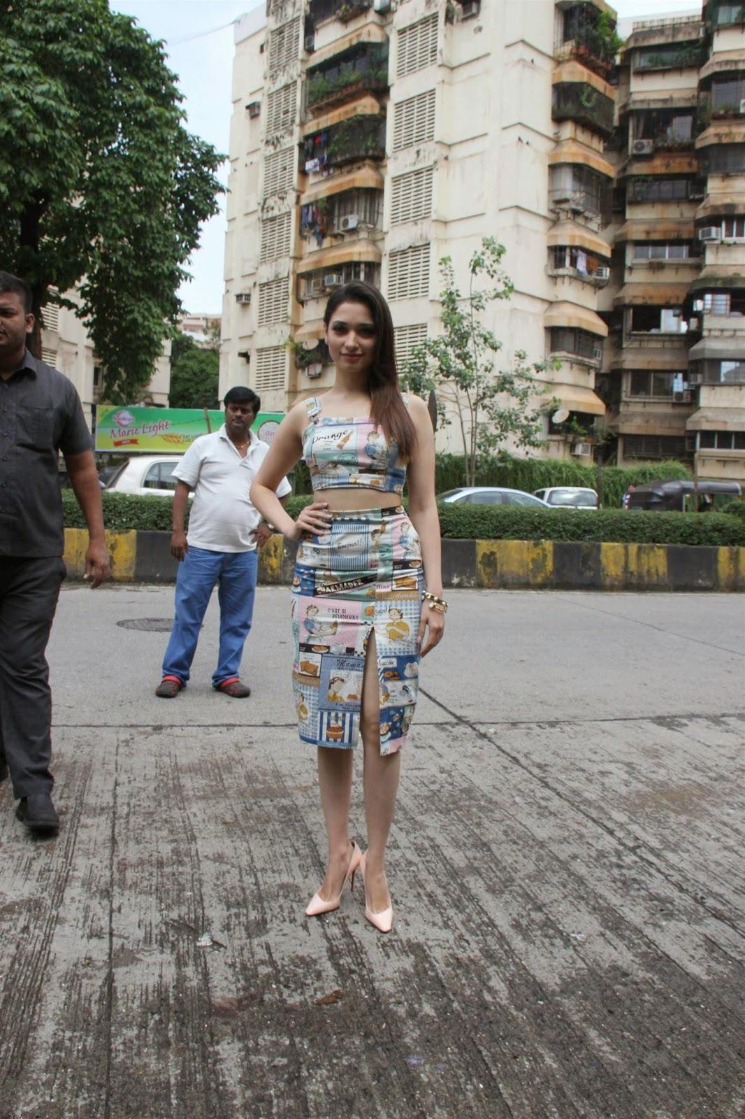 Hot Legs Show Photos Of Tamannaah In Short Dress