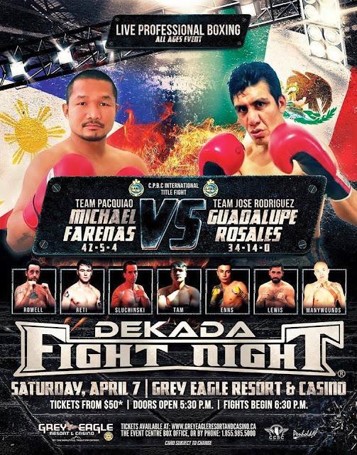 Michael Farenas vs Guadalupe Rosales on April 7th