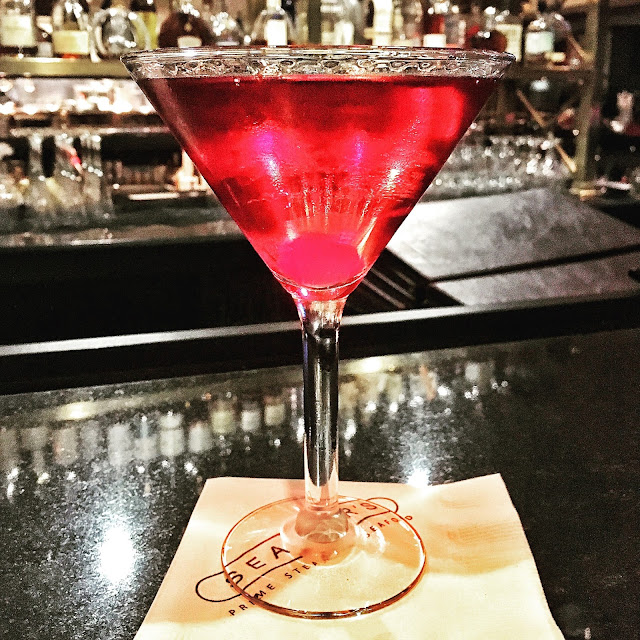 Pomegranate Martini at Seagar's inside the Hilton Sandestin in FL