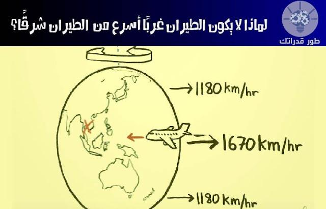 لماذا لا يكون الطيران غربًا أسرع من الطيران شرقًا؟