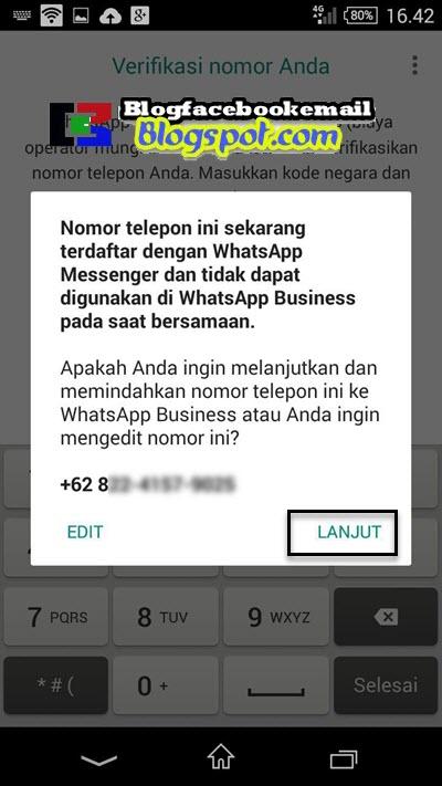 konfirmasi perpindahan whatsapp biasa ke whatsapp bisnis