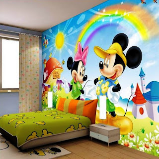 Gambar Wallpaper Dinding Tema Mickey Mouse