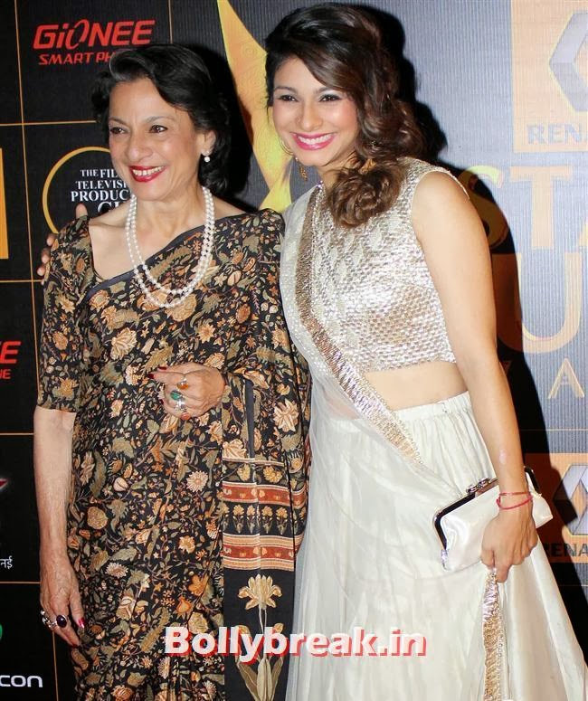 Tanuja and Tanisha Mukherjee, Star Guild Awards 2014 Pics