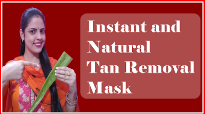 Instant and natural tan removal