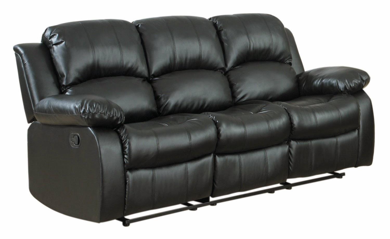 Rialto Black Bonded Leather Chair Lift Edmonton Alberta Best Reclining Sofa For The Money Klaussner Homelegance