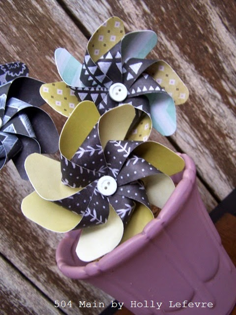 Pretty Paper Pinwheels by 504 Main