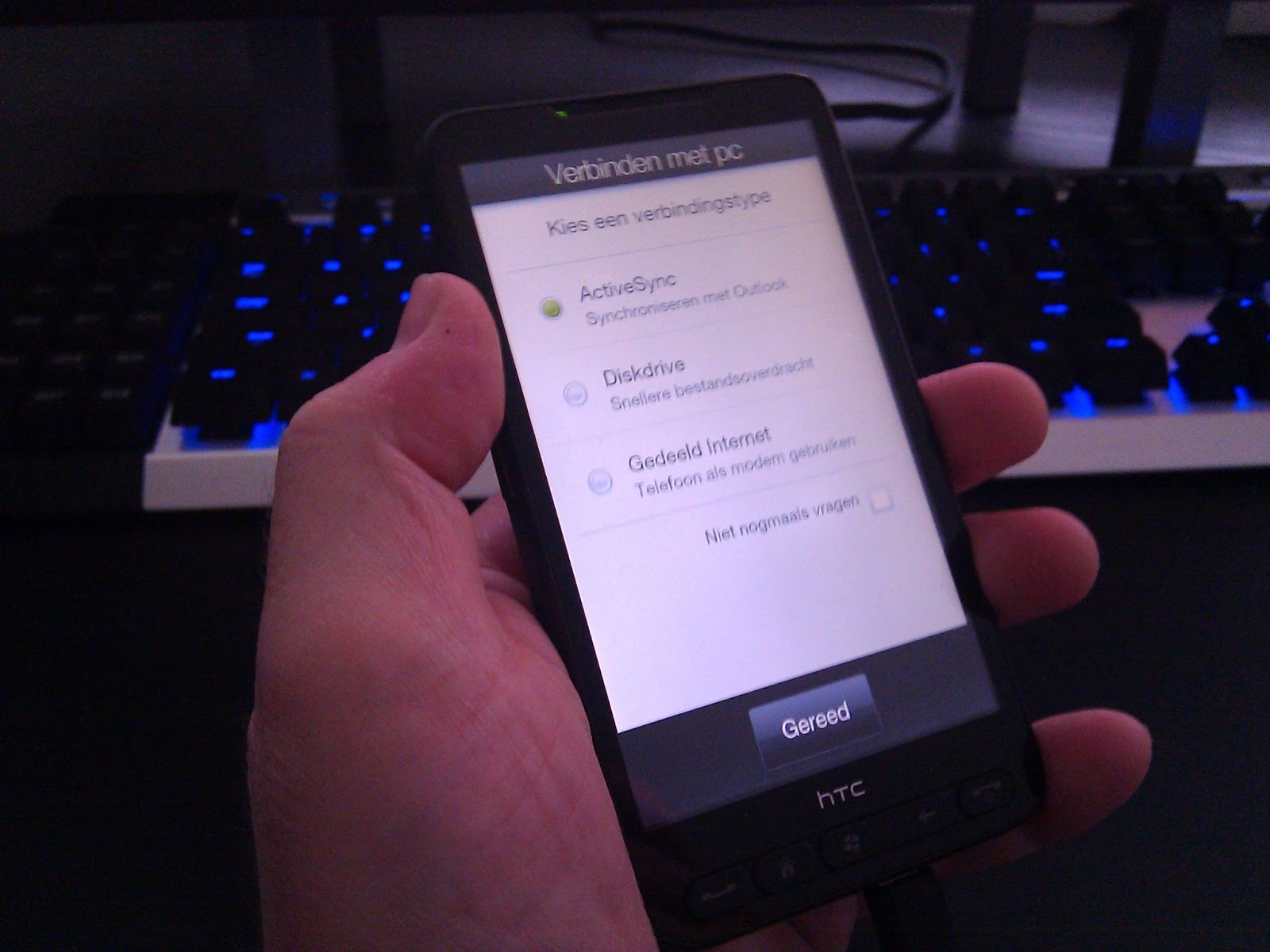 activesync htc hd2