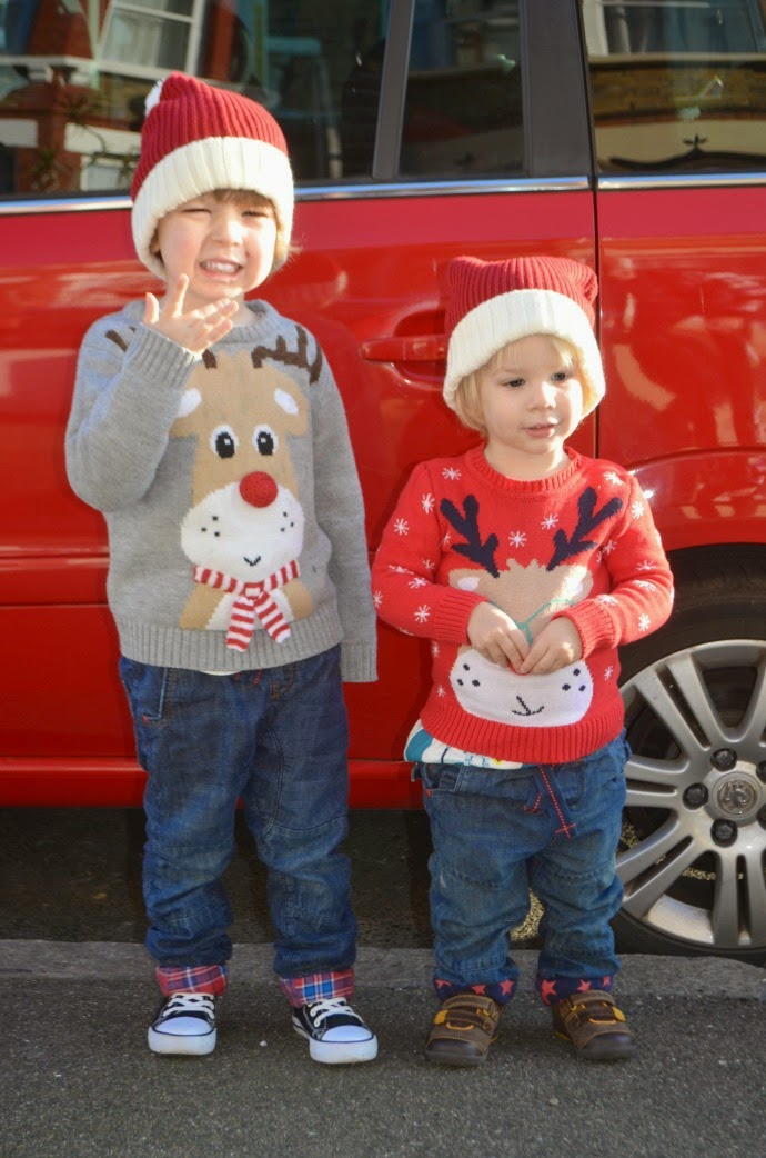 brothers and Christmas, christmas jumpers, novelty christmas pair