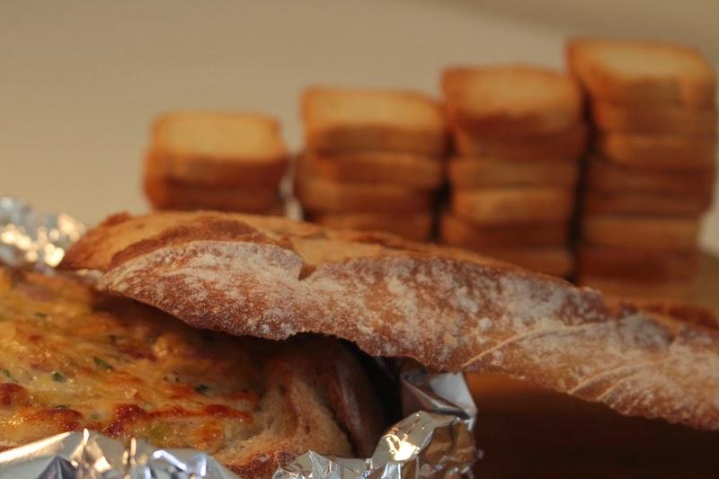 Patê de forno de alho francês e bacon