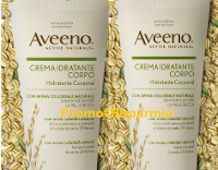 Logo Campioni omaggio Aveeno Crema corpo Idratante