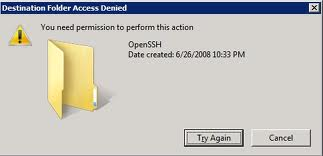 Window XP : Error Message Saying You need permission to perform this action