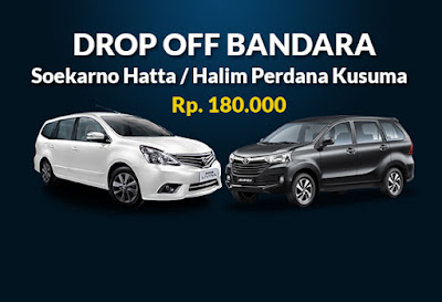 Rental mobil drop off Bandara, harga sewa murah di jakarta