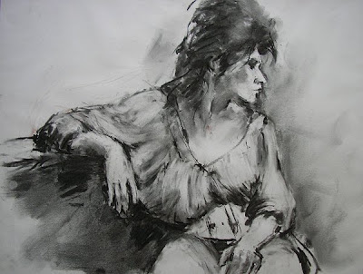 Model tekenen met houtskool