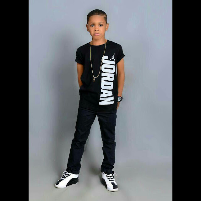 Actress Angela Okorie's Son Celebrates His 6th Birthday With Cute Photoshoot3