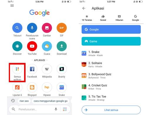 Cara Bermain Game HP Gratis di Google Go dengan Mudah