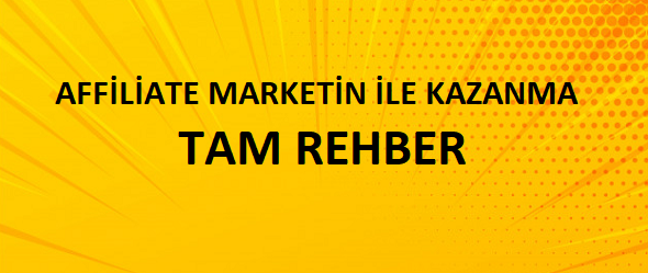 Affiliate marketing ile para kazan