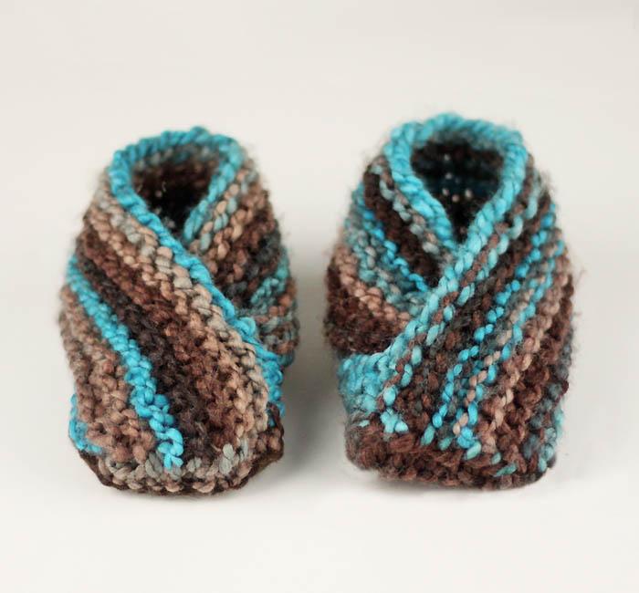 Knitting Pattern Slip On Slippers : Easiest Toddler Slippers Ever! Knitting Pattern - Gina Michele
