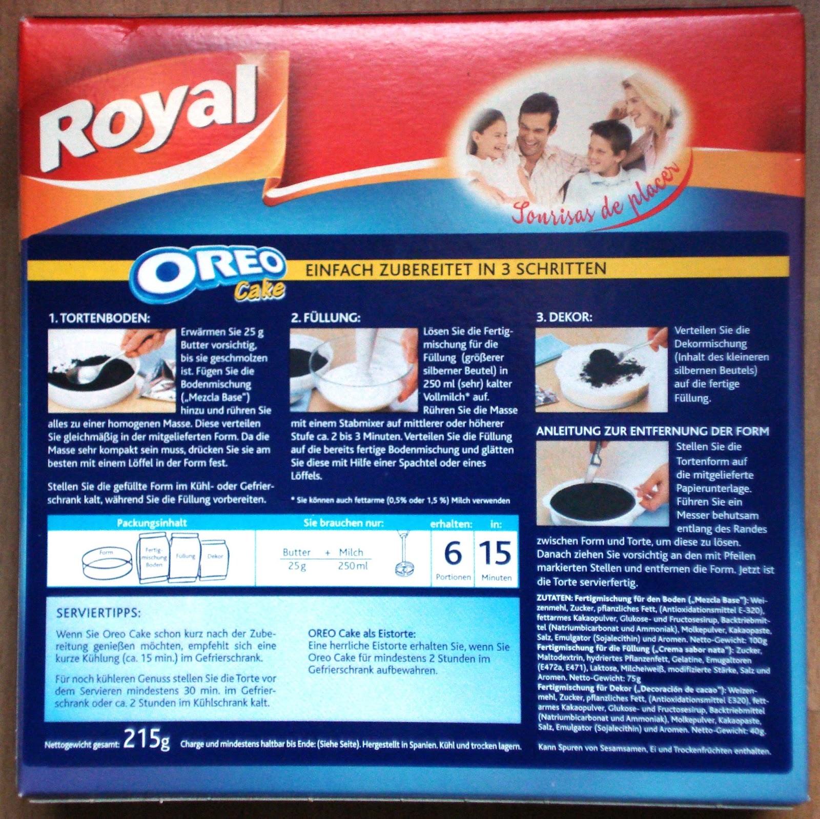 Anny S Testimotions Royal Oreo Cake Oreo Kuchen