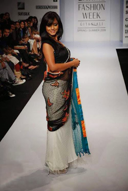 nitu chandra hot navel hd pics in transparent saree