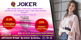 Bandar66 Bonus Agen QJoker Online Terpercaya - www.Sakong2018.com