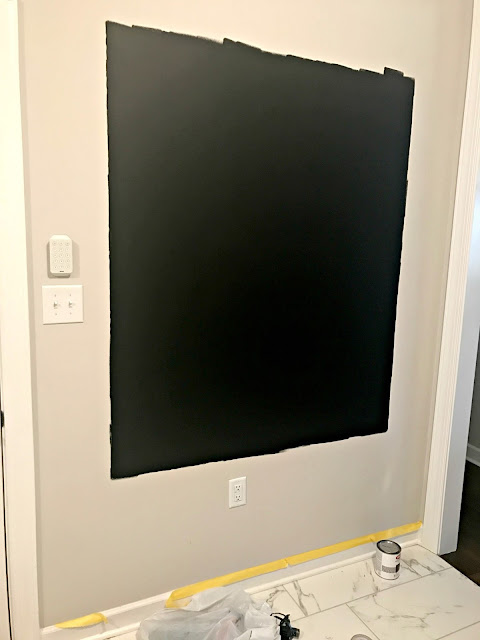 Chalkboard paint on wall