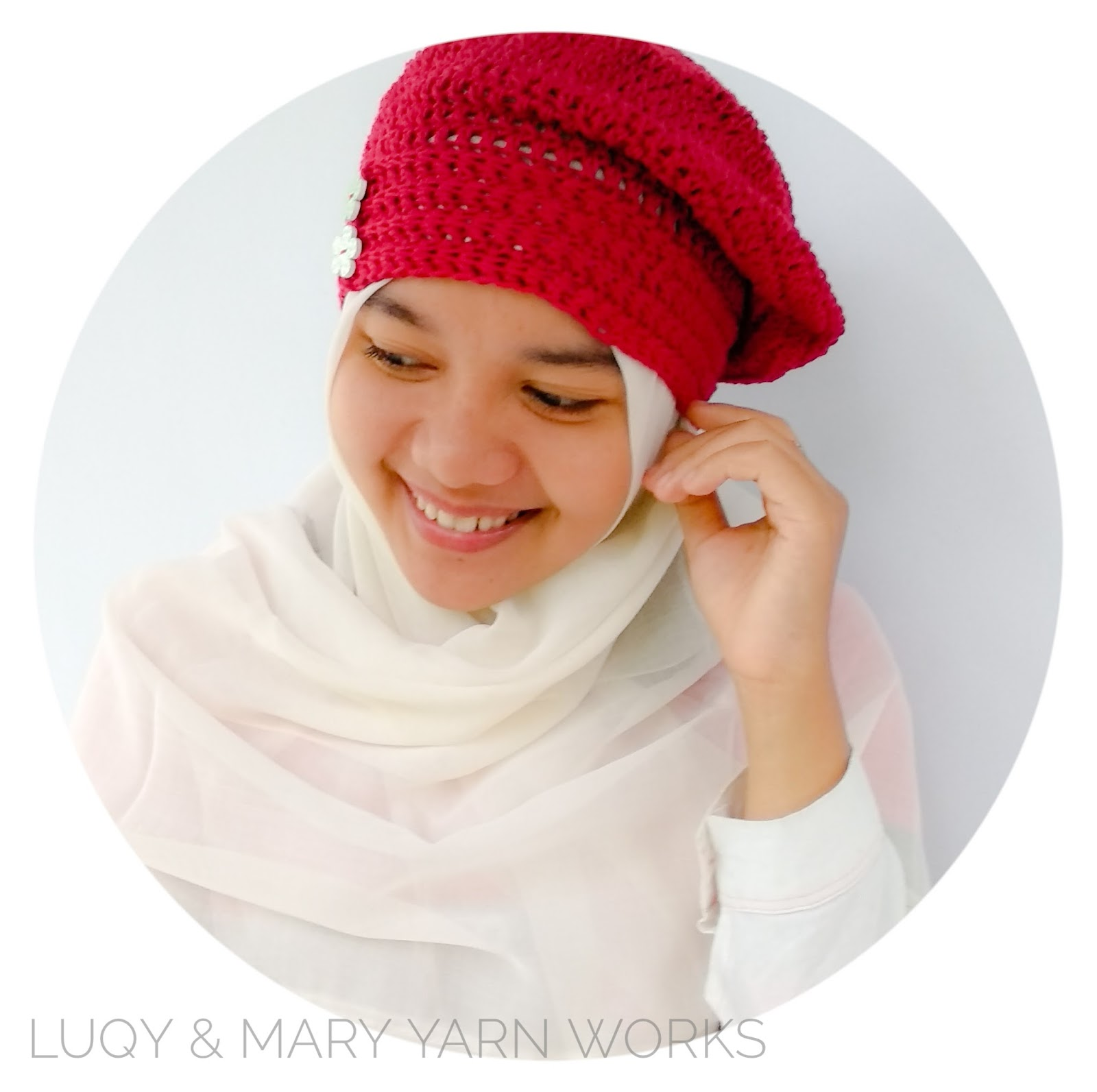 Luqy and Mary YarnWorks: Lady Rose Girl Beret - Free Easy Pattern