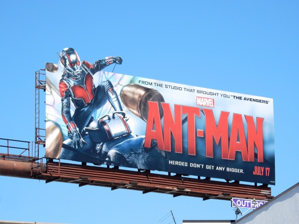 Ant-Man special extension movie billboard