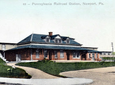 The Old Pennsylvania Railroad Train Station in Newport
