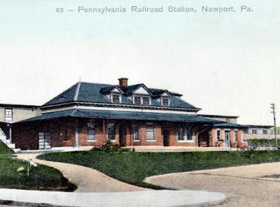 The Old Pennsylvania Railroad Train Station in Newport