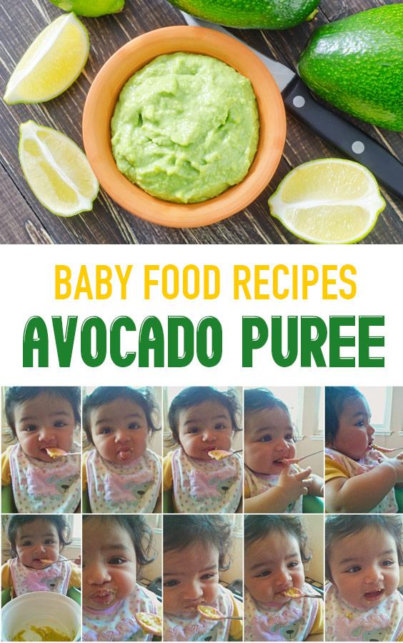 Homemade Baby Food Recipes: Avocado Puree