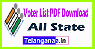 Voter list PDF Download with Photo Search Name CEO Electoral Roll
