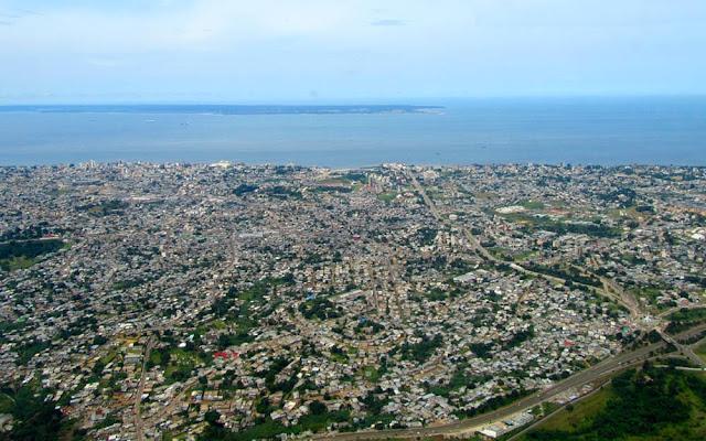 imagem aérea de Librevile – Gabão