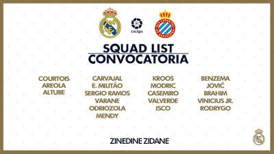 Los 19 convocados frente al Espanyol