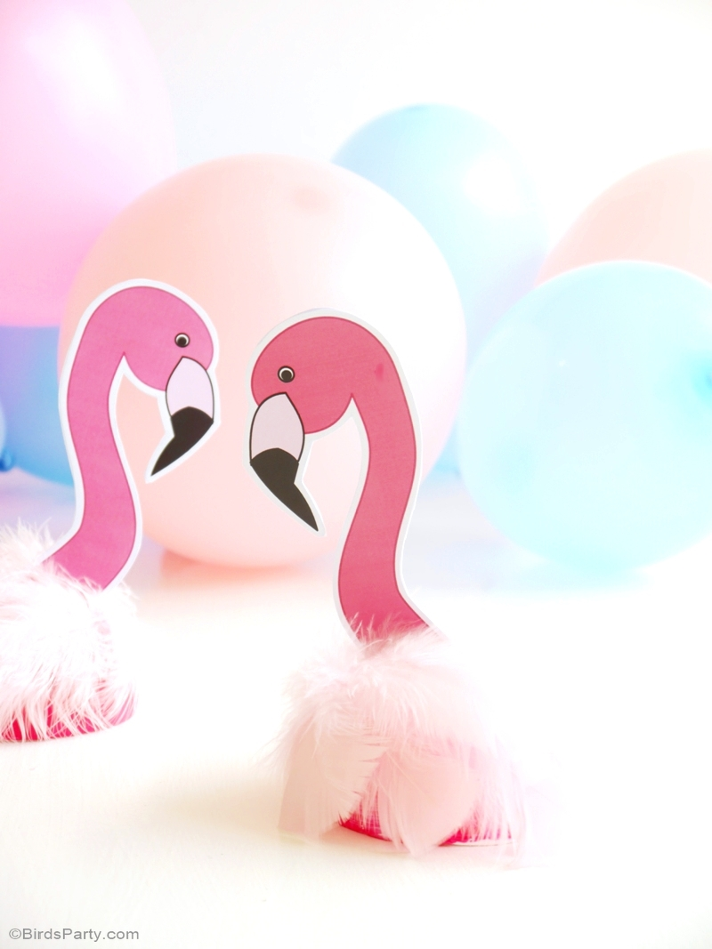 Diy d coration de f te anniversaire flamant rose f tes party printables - Deco anniversaire flamant rose ...