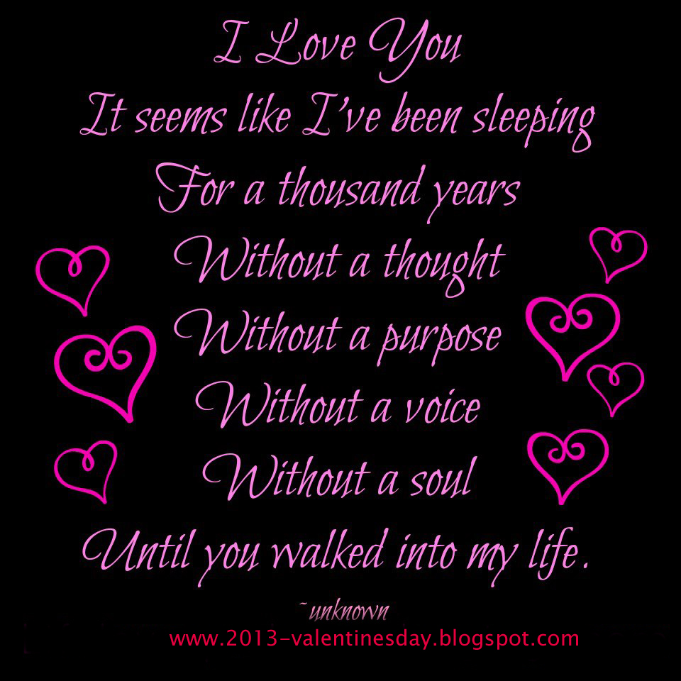 My Quotes: I Love You Quotes 2013 For Valentines Day Wish