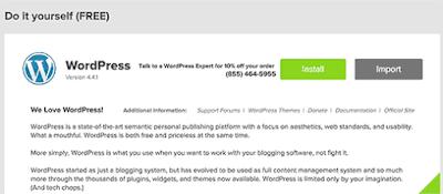 Mulai Instalasi WordPress menggunakan MOJO Marketplace