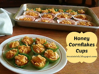 Honey Cornflakes Cups Recipe @ treatntrick.blogspot.com