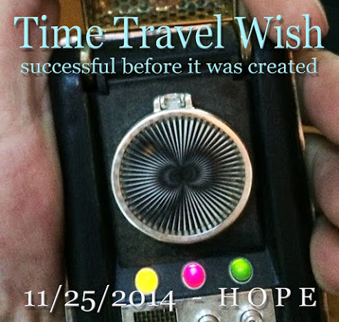 Time Travel Wish page on FaceBook personal accnt