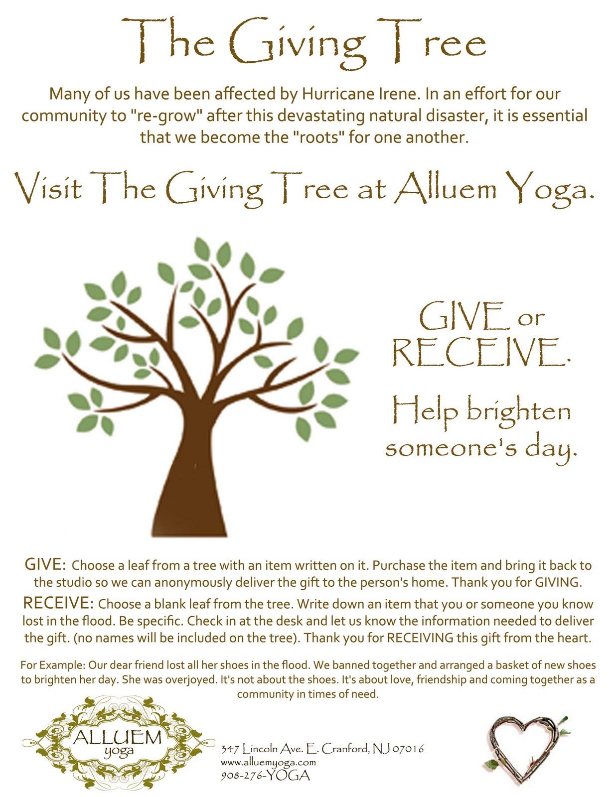 Alluem Kids The Giving Tree At Alluem Yoga