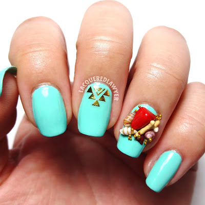 Resting Beach Face Nail Art