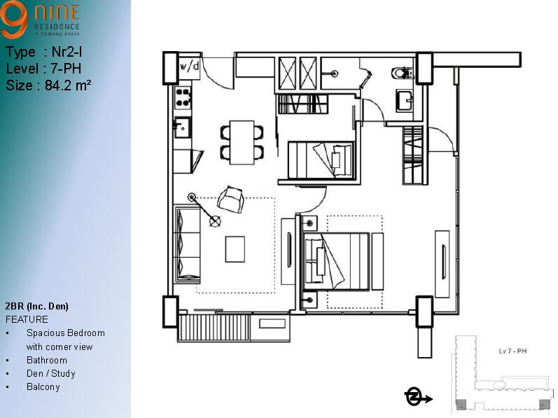 Type 2 Br Apartment 9 Nine Residence | APARTMENT 9 NINE ...