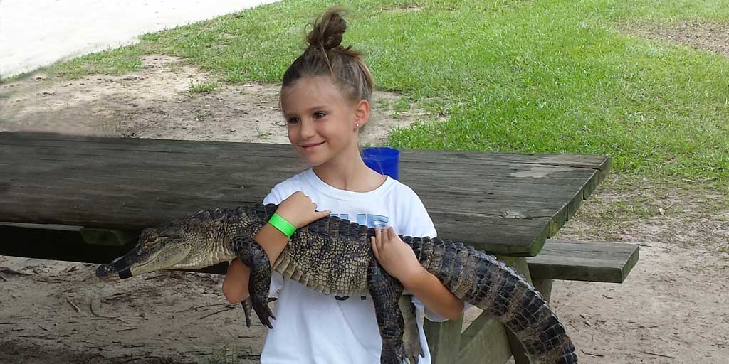 Megan Holding an Alligator - My favorite part was spending time with you