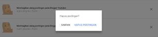 hapus postingan google+