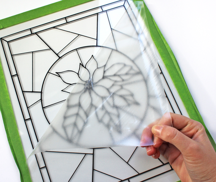 How to make a stained glass window using craft vinyl