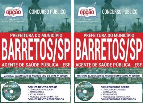 apostila Concurso Prefeitura de Barretos 2018