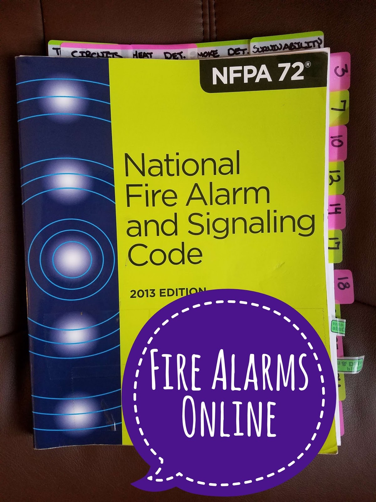 Nfpa 72 Tabs For Nicet Exam Fire Alarms Online